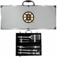 Boston Bruins 8 Piece Stainless Steel BBQ Set w/Metal Case