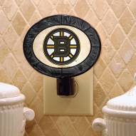 Boston Bruins Art Glass Night Light