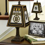 Boston Bruins Art Glass Table Lamp