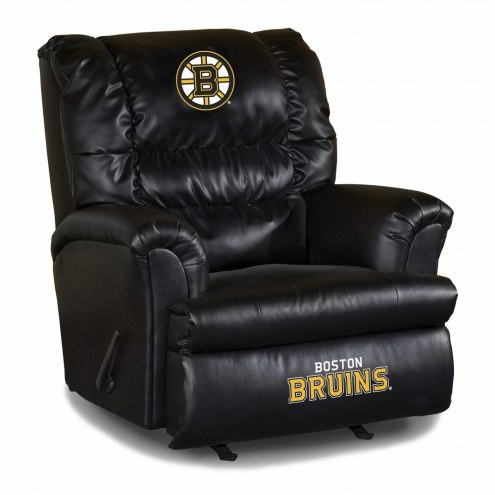 Boston Bruins Big Daddy Leather Recliner