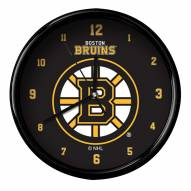 Boston Bruins Black Rim Clock