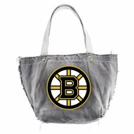 Boston Bruins Black Vintage Tote Bag