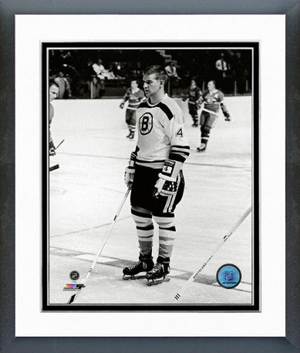 Boston Bruins Bobby Orr 1966 Action Framed Photo