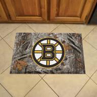 Boston Bruins Camo Scraper Door Mat
