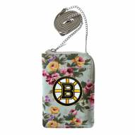 Boston Bruins Canvas Floral Smart Purse