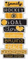Boston Bruins Celebrations Stack Sign