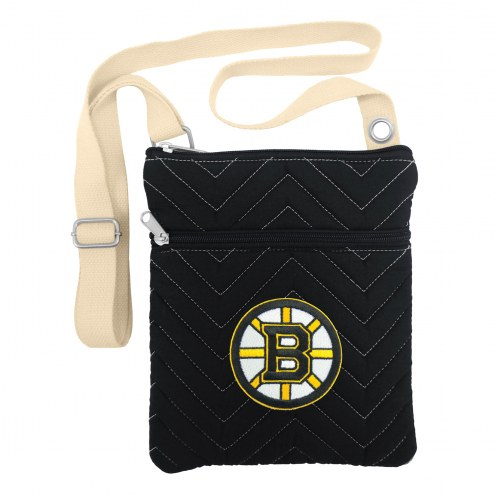 Boston Bruins Chevron Stitch Crossbody Bag