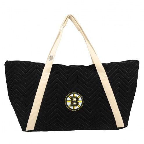 Boston Bruins Chevron Stitch Weekender Bag