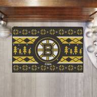 Boston Bruins Christmas Sweater Starter Rug