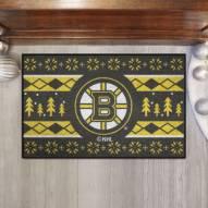 Boston Bruins Christmas Sweater Starter Rug