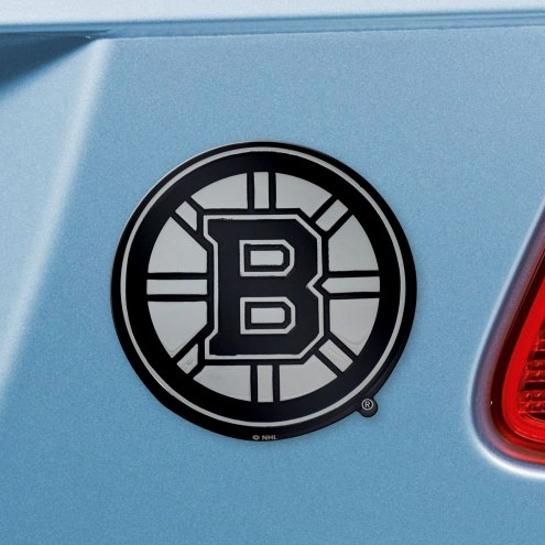 Boston Bruins Chrome Metal Car Emblem