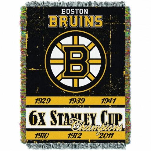 Boston Bruins Commemorative Champs Throw Blanket