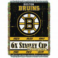 Boston Bruins Commemorative Champs Throw Blanket