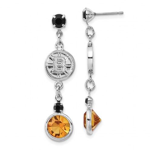 Boston Bruins Crystal Logo Earrings