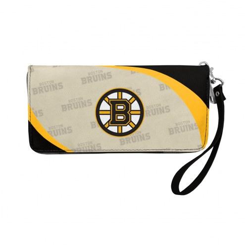 Boston Bruins Curve Zip Organizer Wallet