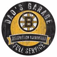 Boston Bruins Dad's Garage Sign