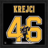 Boston Bruins David Krejci Uniframe Framed Jersey Photo