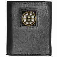 Boston Bruins Deluxe Leather Tri-fold Wallet in Gift Box