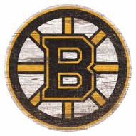 Boston Bruins Distressed Logo Cutout Sign