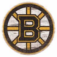 Boston Bruins Distressed Logo Cutout Sign