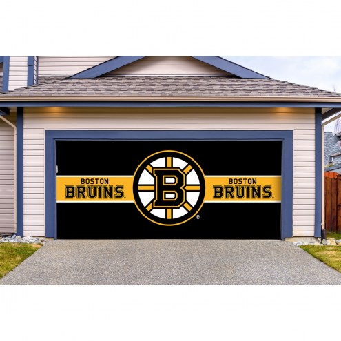 Boston Bruins Double Garage Door Cover