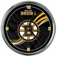 Boston Bruins Dynamic Chrome Clock