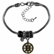 Boston Bruins Euro Bead Bracelet