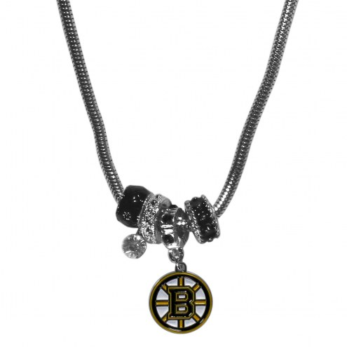 Boston Bruins Euro Bead Necklace