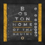 Boston Bruins Eye Chart