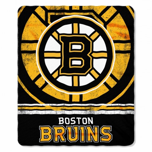 Boston Bruins Fade Away Fleece Blanket