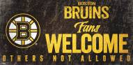 Boston Bruins Fans Welcome Sign