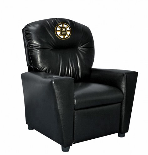 Boston Bruins Faux Leather Kid's Recliner
