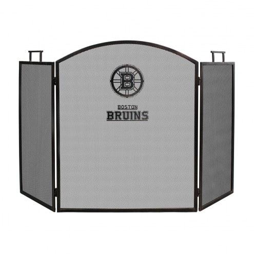 Boston Bruins Fireplace Screen