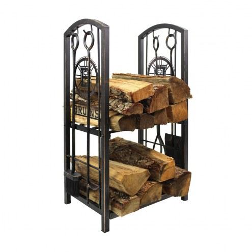 Boston Bruins Fireplace Wood Holder & Tool Set