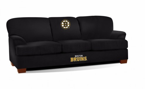 Boston Bruins First Team Microfiber Sofa