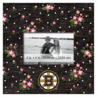 """Boston Bruins  Floral 10"""" x 10"""" Picture Frame"""