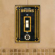 Boston Bruins Glass Single Light Switch Plate Cover