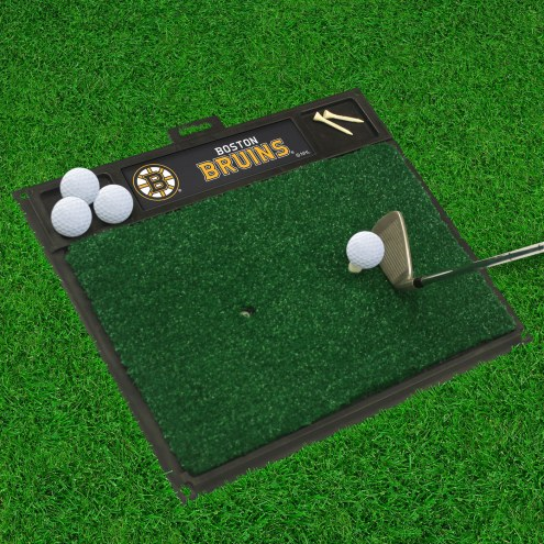 Boston Bruins Golf Hitting Mat