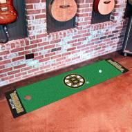 Boston Bruins Golf Putting Green Mat