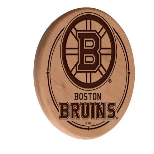 Boston Bruins Laser Engraved Wood Sign