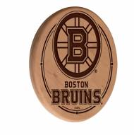 Boston Bruins Laser Engraved Wood Sign