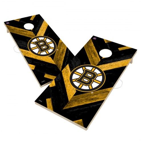 Boston Bruins Herringbone Cornhole Game Set