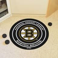 Boston Bruins Hockey Puck Mat