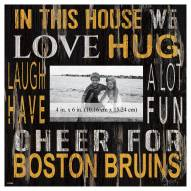 """Boston Bruins In This House 10"""" x 10"""" Picture Frame"""