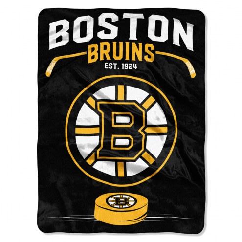 Boston Bruins Inspired Plush Raschel Blanket