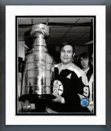 Boston Bruins Johny Bucyk With the Stanley Cup Framed Photo