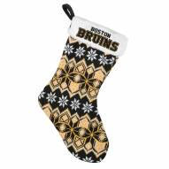 Boston Bruins Knit Christmas Stocking
