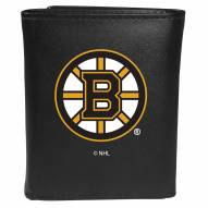 Boston Bruins Large Logo Leather Tri-fold Wallet