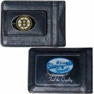 Boston Bruins Leather Cash & Cardholder