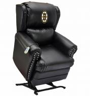 Boston Bruins Leather Coach Lift Recliner